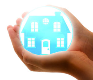 home protected in bubble representing insurance